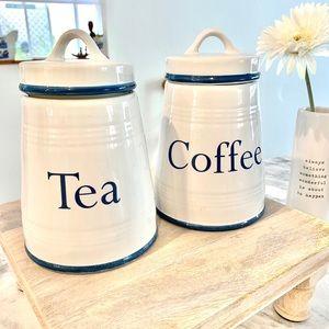 Farmhouse Coffee and Tea Canister Set